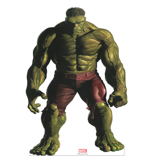 Life-size cardboard standee of Hulk from Marvels Timeless Collection.