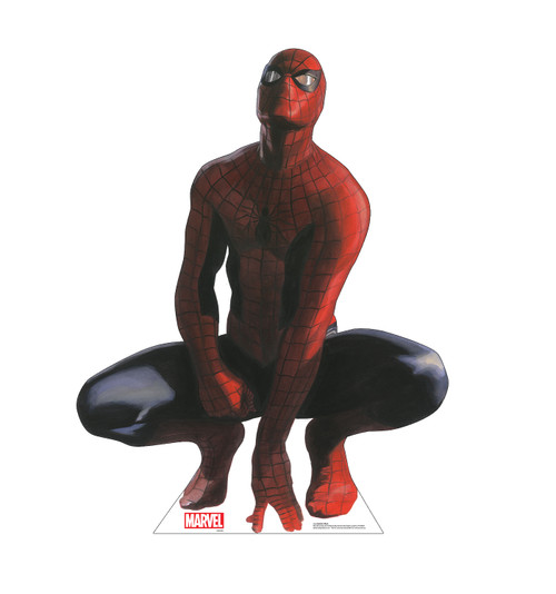 Life-size cardboard standee of Spider-Man from Marvels Timeless Collection.