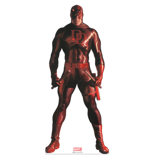 Life-size cardboard standee of Daredevil from Marvels Timeless Collection.