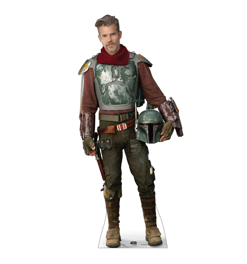 Life-size cardboard standee of The Marshal from the Mandalorian season 2.