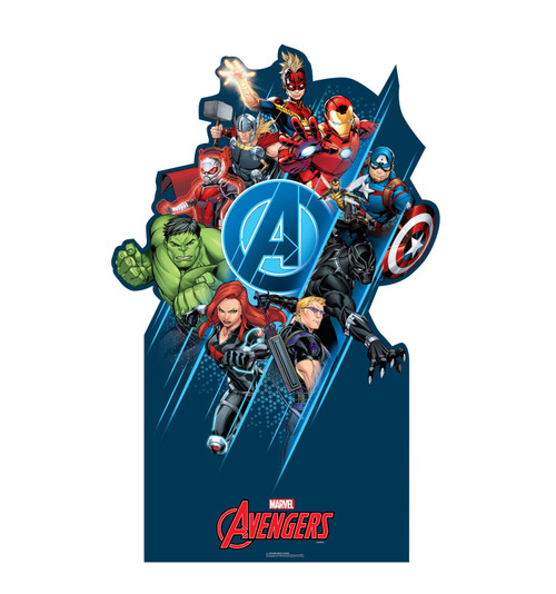 Life-size cardboard standee of the Avengers Classic Group.