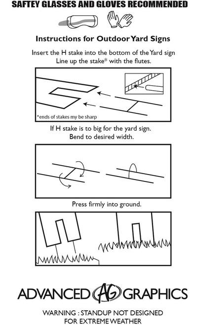 Happy Birthday Yard Sign Confetti | 3650