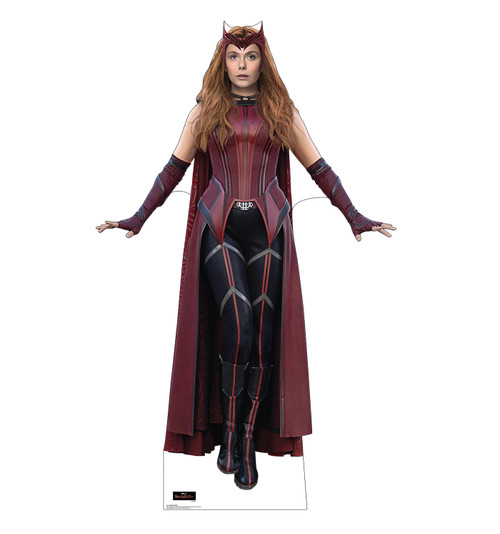 Life-size cardboard standee of the Scarlet Witch from the new Disney + series WandaVision.