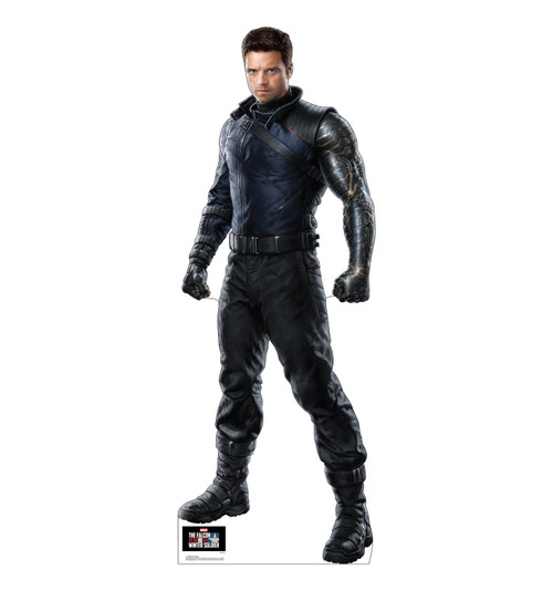 Life-size cardboard standee of Winter Soldier.