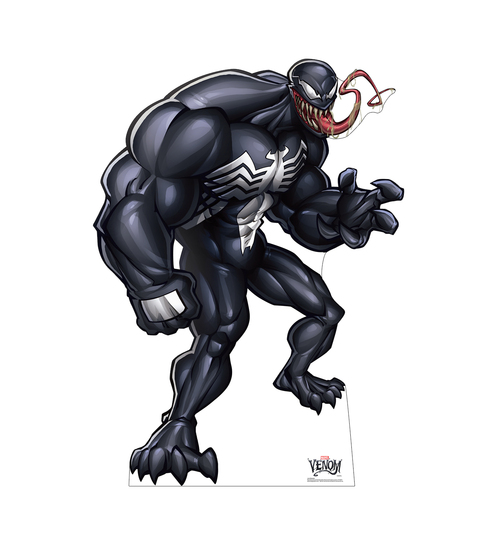 Life-size cardboard standee of Venom from Marvel Classics.