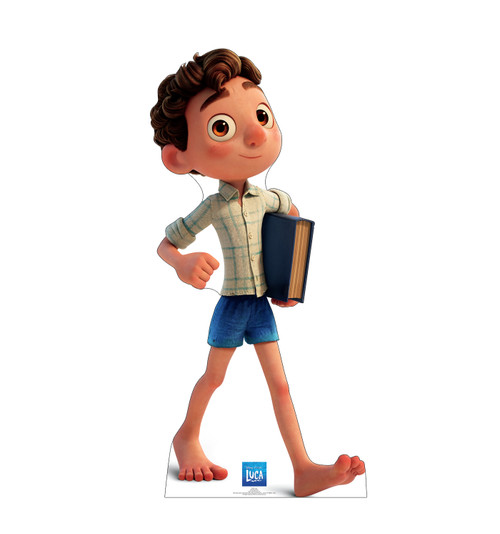 Life-size cardboard standee of Luca.