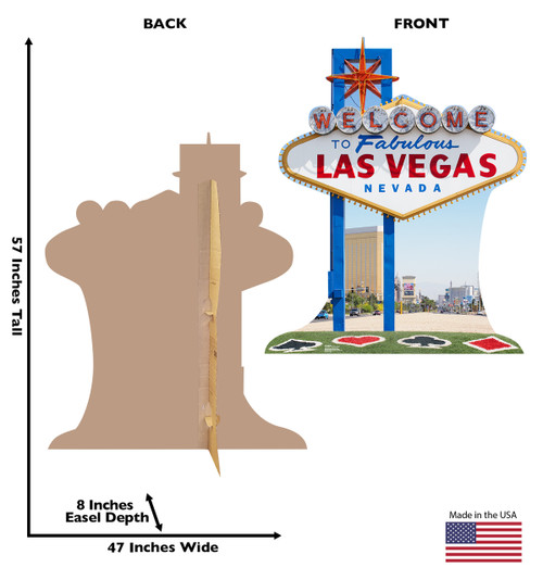 Vegas Sign Cardboard Cutout 1841