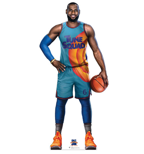Life-size cardboard standee of Lebron from Space Jam A New Legacy.