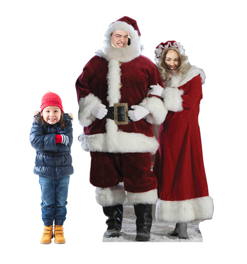 Mr. and Mrs. Claus Stand in with model