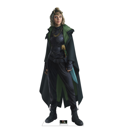 Life-size cardboard standee of Sylvie from Marvel/Disney+ series Loki.
