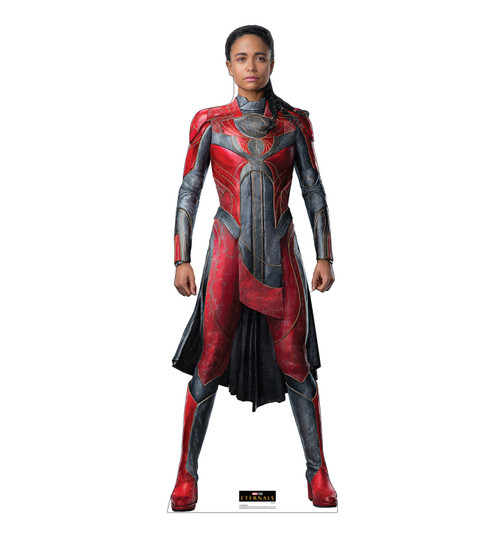 Life-size cardboard standee of Makkari from the Marvel movie The Eternals.