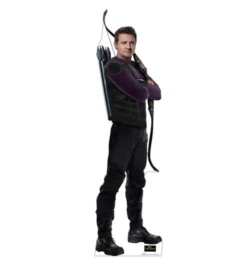 Life-size cardboard standee of Hawkeye from the Disney+ Hawkeye TV Series.
