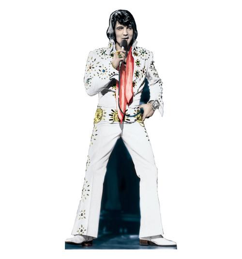 Life-size Elvis-White TALKING Cardboard Standup | Cardboard Cutout