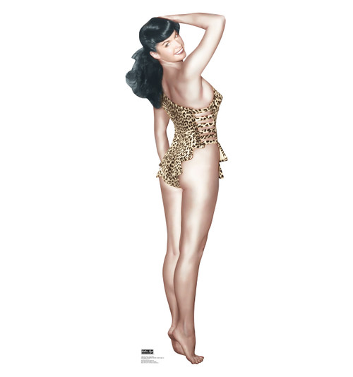 Bettie Page - Leopard Swim Suit