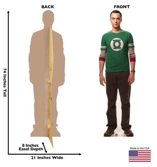 Life-size Sheldon - Big Bang Theory Cardboard Standup   Cardboard Cutout