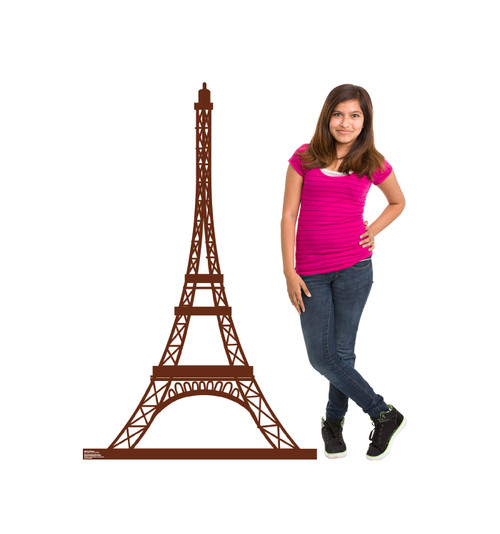Paris Eiffel Tower Cardboard Cutout 1848