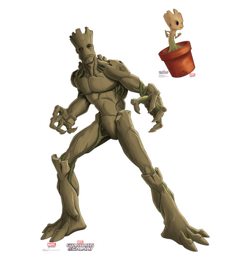 Groot & Little Groot - Animated Guardians of the Galaxy