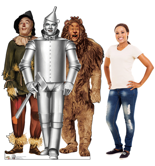 Tin Man, Cowardly Lion and Scarecrow - Wizard of Oz