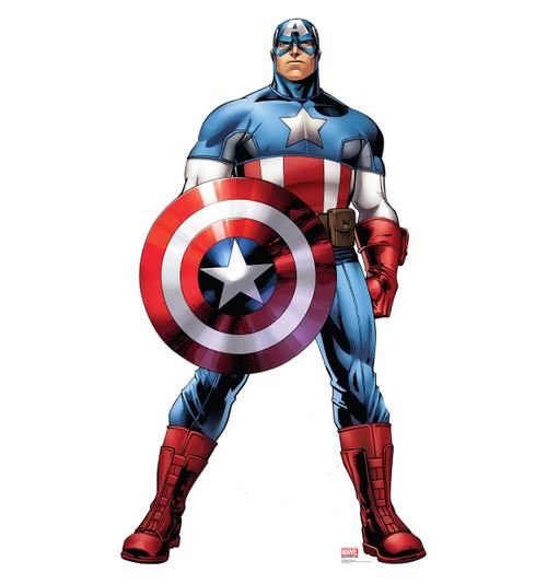 Life-size Captain America Cardboard Standup | Cardboard Cutout