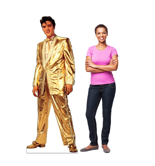 Elvis Presley Gold Suit Cardboard Cutout with model