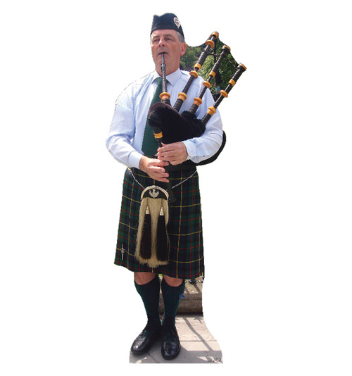 Bagpiper - Cardboard Cutout Front View