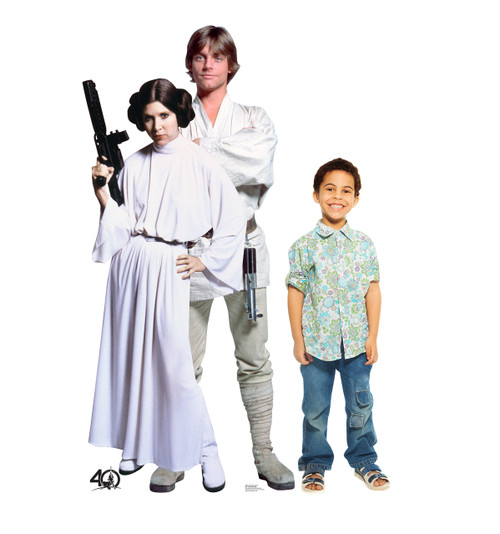 Life-size Luke and Leia  (Star Wars 40th) Cardboard Standup | Cardboard Cutout 2
