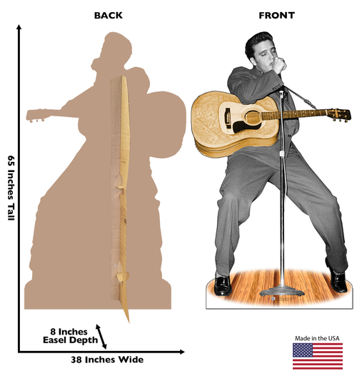 Elvis Presley with Microphone - Cardboard Cutout 471
