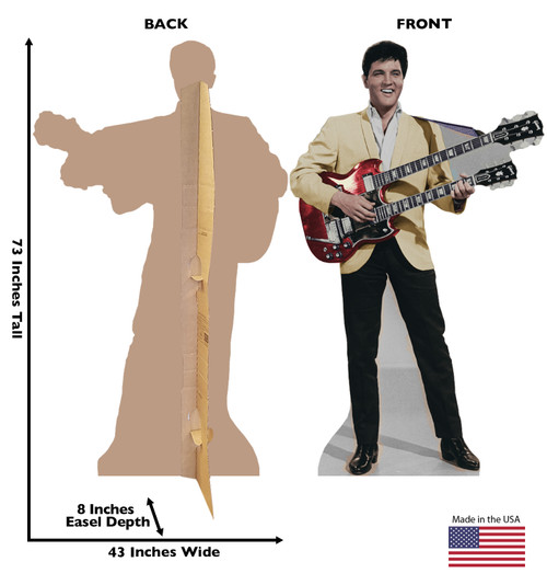 Elvis-Yellow Jacket TALKING- Cardboard Cutout 845T