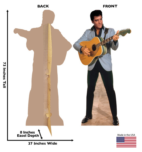 Elvis Light Blue Jacket - Cardboard Cutout 1352