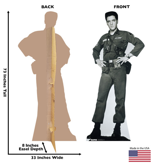 Elvis - Army Fatigues - Cardboard Cutout 382