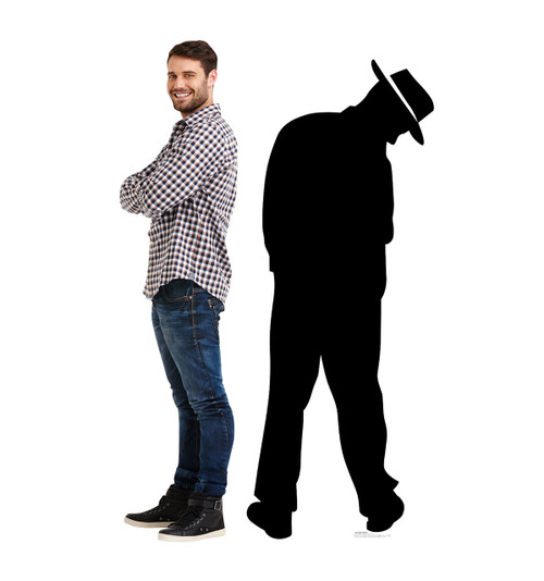 Life-size Gangster Silhouette Cardboard Standup | Cardboard Cutout 2