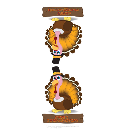 Life-size Turkey Centerpiece Cardboard Standup | Cardboard Cutout