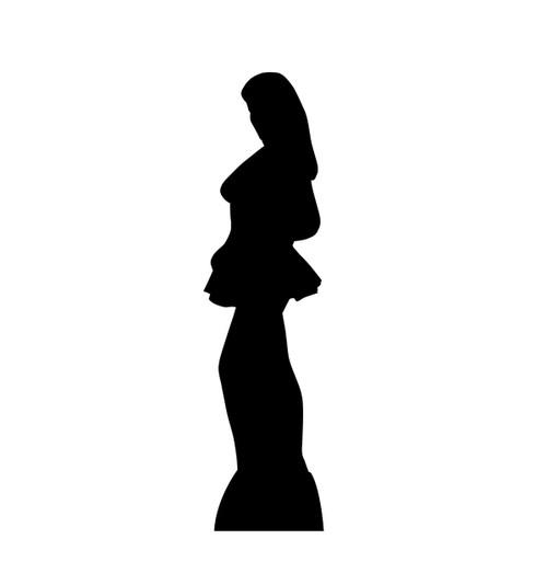 Woman Side Profile Silhouette - Cardboard Cutout