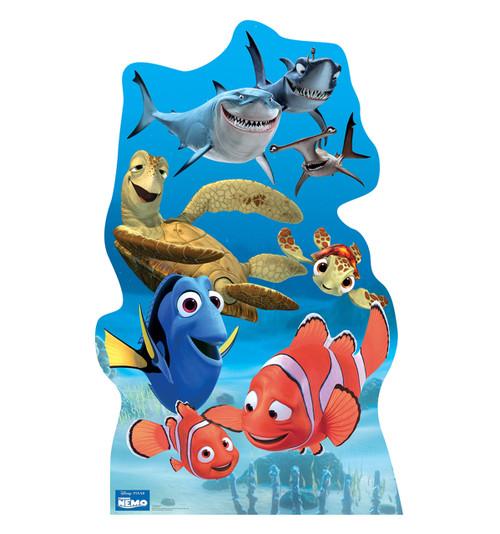 Life-size Finding Nemo Group - Disney / Pixar Cardboard Standup   Cardboard Cutout