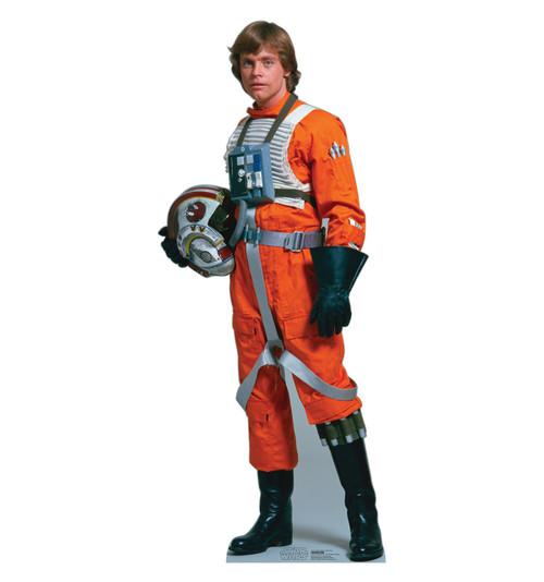 Life-size Luke Skywalker - Rebel Pilot Cardboard Standup | Cardboard Cutout