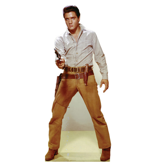 Elvis Gunfighter Cardboard Cutout