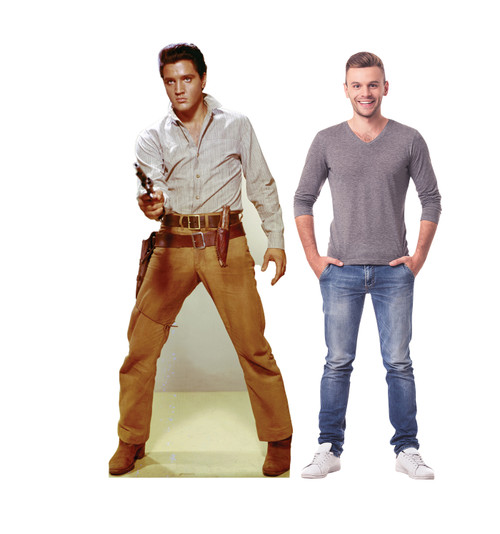 Elvis Gunfighter Cardboard Cutout with model