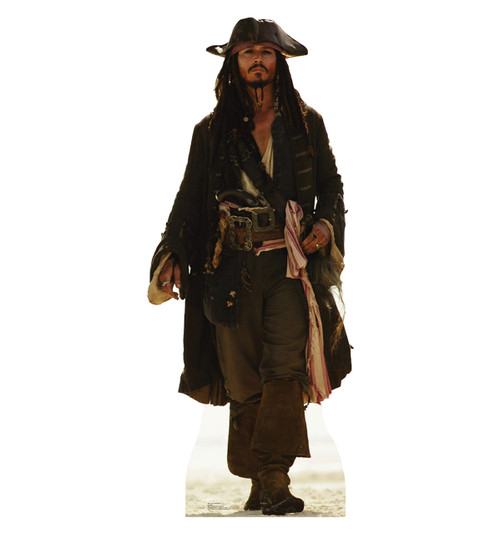 Life-size Capt Jack Sparrow Cardboard Standup | Cardboard Cutout