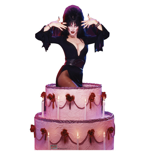 Life-size Elvira - Cake Cardboard Standup | Cardboard Cutout