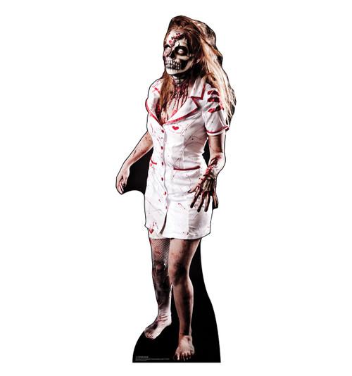 Life-size Zombie Nurse Cardboard Standup | Cardboard Cutout