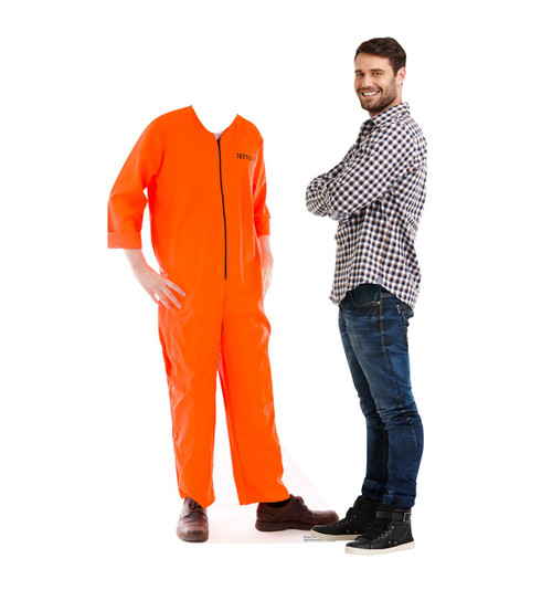 Life-size Inmate Orange Jump Suit Stand-in Cardboard Standup | Cardboard Cutout 2