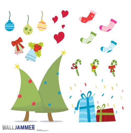 Life-size Christmas Fun Wall Decal