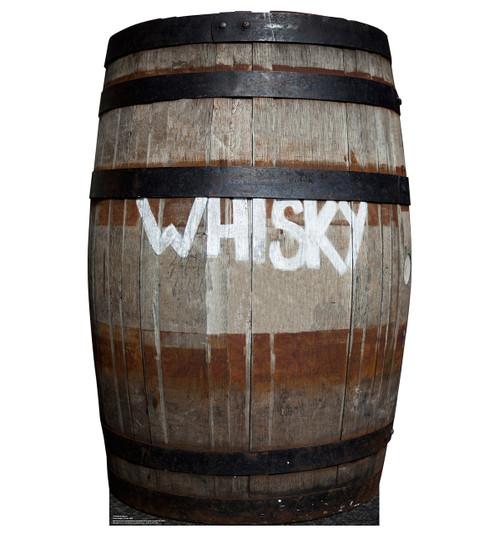 Life-size Whiskey Barrel Cardboard Standup| Cardboard Cutout