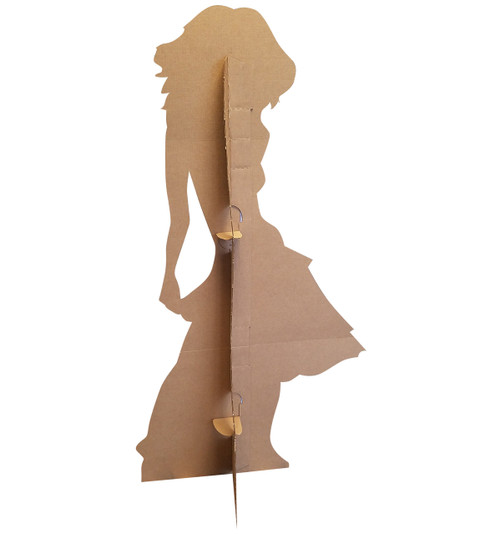 Life-size Silhouette Dancer Yellow Sparkles Cardboard Standup