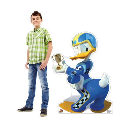 Life-size Donald Duck Trophy (Disney's Roadster Racers) Cardboard Standup