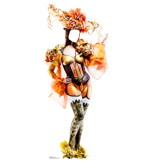 Life-size Mardi Gras Showgirl Standin Cardboard Standup