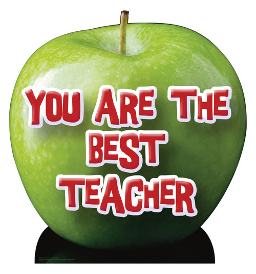 Life-size Apple - You are the Best Teacher Cardboard Standup