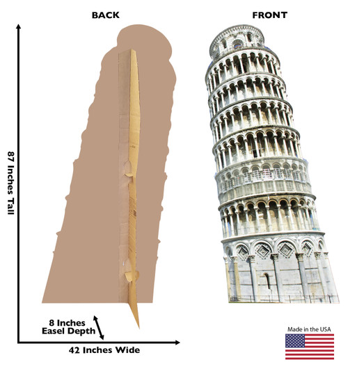Italy Leaning Tower of Pisa - Cardboard Cutout 1856