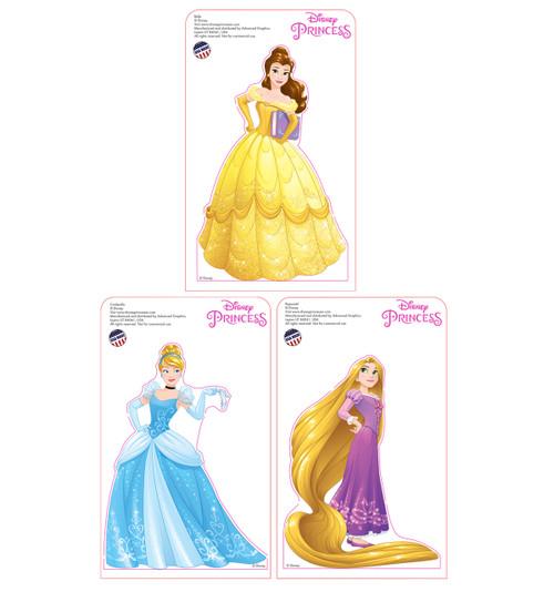 Tabletop Mini Princesses 3 Pack Cardboard Standup 3