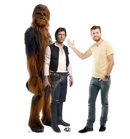 Han Solo and Chewbacca (Star Wars 40th) - Cardboard Cutout-lifesize